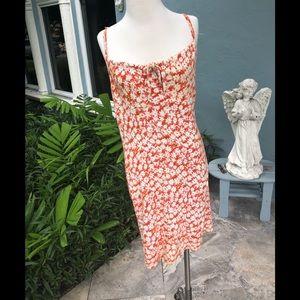 Dresses & Skirts - Reddish Orange Floral Short Dress. Size S